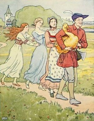 Die goldene Gans, Illustration von Leonard Leslie Brooke