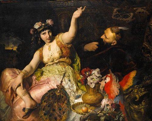 Scheherazade und Sultan Schariar
